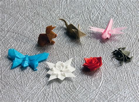 Tiny Origami - nano origami infinitesimal folded paper creations by anja