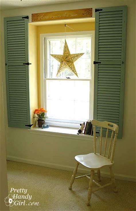 dressing   dormer window  shutters pretty handy girl