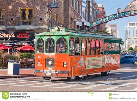 l district san diego trolley tour in gasl district in san diego editorial