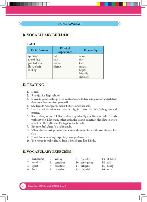 Buku Kunci Inggris Inspira buku bahasa inggris kelas x kurikulum 2013 kemendikbud