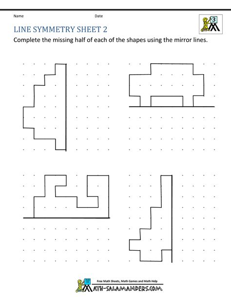 symmetrical patterns worksheet year 2 symmetry worksheets