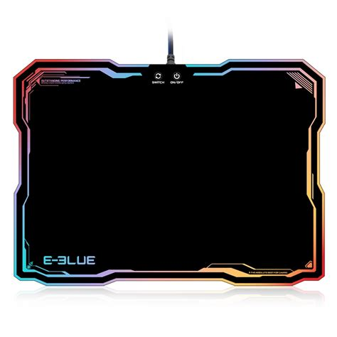 Pro Gamer Mouse Pad e 3lue emp013 pro gaming mouse pad gamer with 10 models rgb lighting light rubber mice