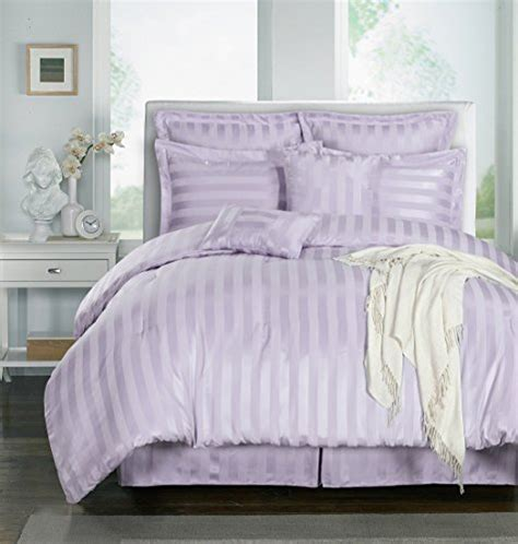 chezmoi collection 8 piece striped comforter bedding set