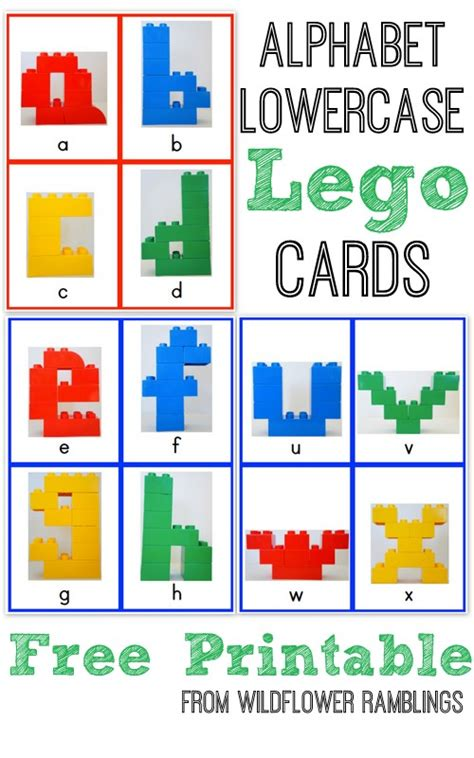 free lego printable letters alphabet lego cards lowercase free printable