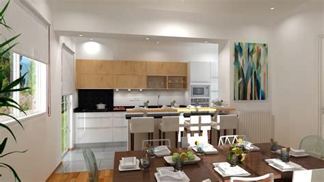 plan cuisine ouverte salle manger plan cuisine ouverte trendy plan cuisine ouverte lyon