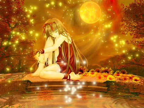 anime girl with fireflies anime wallpaper fireflies minitokyo