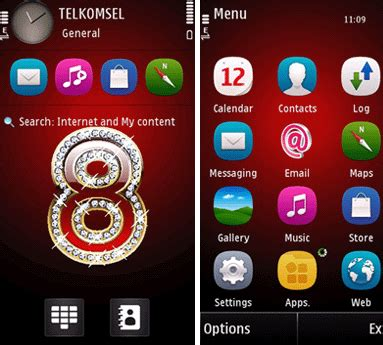 themes nokia 5800 xpressmusic love mobile phones 8 theme for s60v5