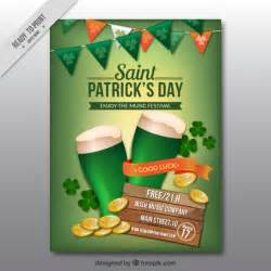 s day green poster vector free