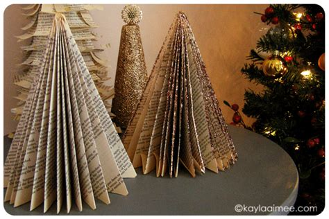 christmas crafts with used books easy diy paperback trees