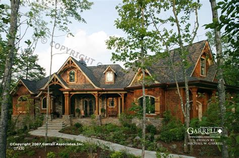 mountain style home plans garrell associates inc tranquility house plan 07430