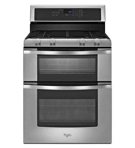 whirlpool gas range reviews whirlpool wgg555s0bs 6 0 total cu ft double oven gas