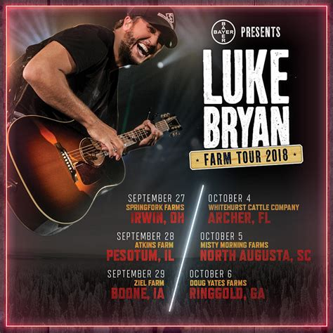 luke bryan farm tour luke bryan farm tour announcements ticket crusader