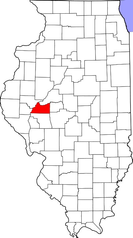 Cass County Search File Map Of Illinois Highlighting Cass County Svg