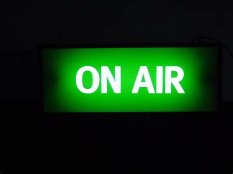 on air on air illuminated sign