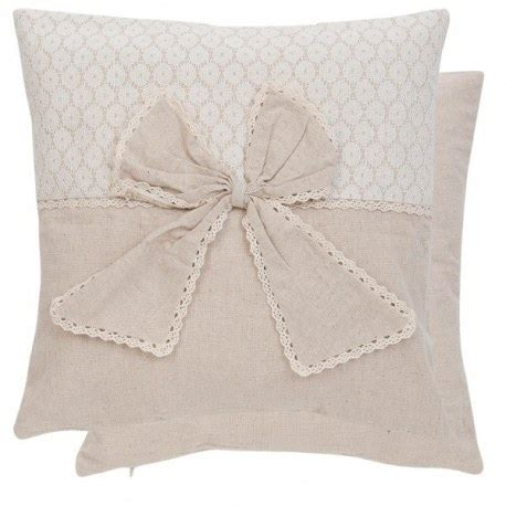 cuscini country chic cuscino shabby chic con fiocco tessile casa country