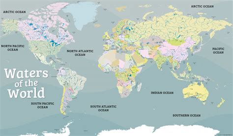 map of da world world water map poster waters of the world map poster