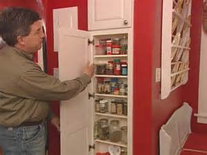 how to build a spice rack cabinet built in spice rack hgtv