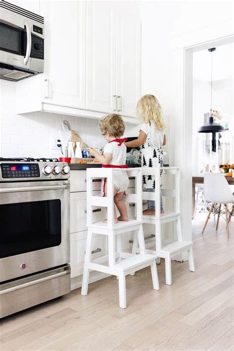 Kitchen Interior Design Tips by Ikea Hack Toddler Learning Tower Stool Happy Grey Lucky