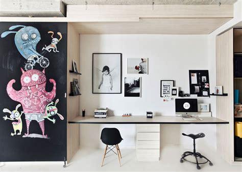 bureau enfant original amenager un bureau avec un coin enfant original 2