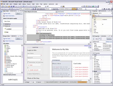 design web form in visual studio 2010 microsoft visual studio 2010 and the net framework 4 0