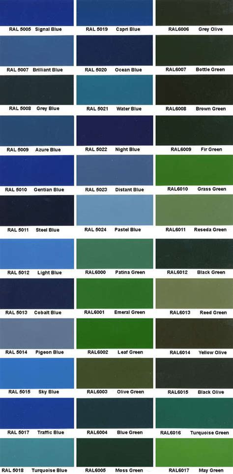 ppg ral color deck color ral ral colorchart 点力图库