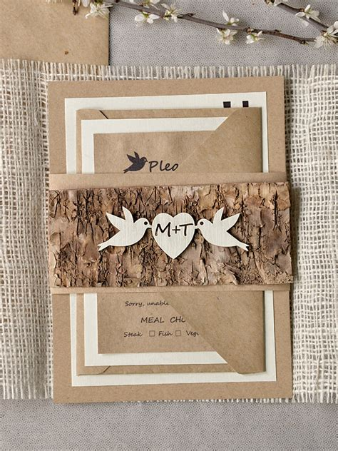 rustic photo wedding invitations mod finds rustic chic wedding invitations modwedding