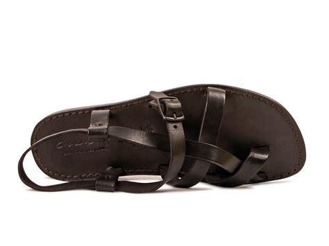 mens leather gladiator sandals gladiator sandals for in black genuine calf leather