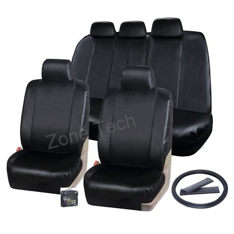 airbag compatible seat covers in india zone tech classic leather universal car seat covers airbag