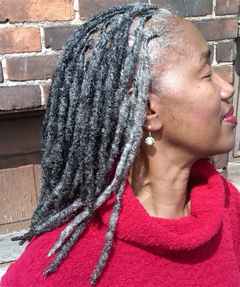dreadlocks with gray hair gray locks hair by natural hairstylist shante fagans of