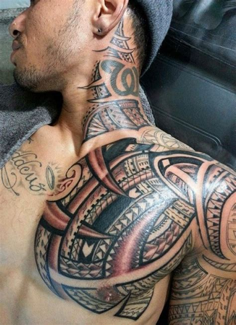 neck to shoulder tattoo designs 31 cool hawaiian tribal neck tattoos