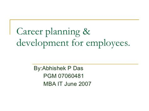 Professional Mba Csu Degree Planning by Career Planning Development For Employees