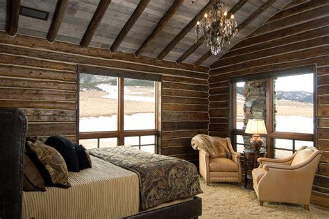 Log Cabin Dining Room Furniture log cabin bedroom bedroom rustic with beige bedding beige