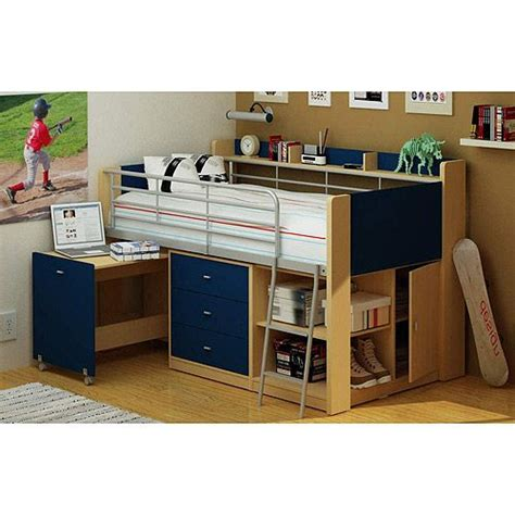 Boy Bunk Beds With Desk Charleston Loft Bed With Desk Navy And Boys Small Rooms And The Top