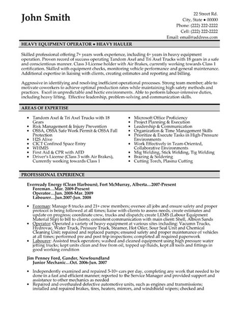 machine operator sle resume this equipment operator resume sle 28 images chemical
