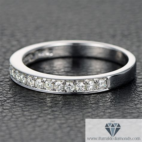 half eternity moissanite wedding band iturraldediamonds