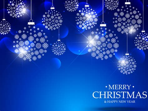 Blue Merry Christmas Backgrounds Blue Christmas Holiday Templates Free Ppt Backgrounds And Merry Powerpoint Template