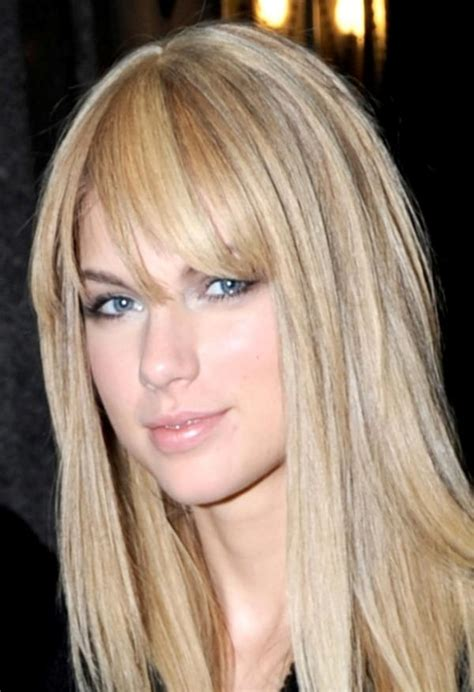 hairstyles for dirty bangs taylor swift straight hair