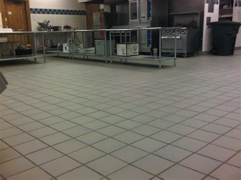 Commercial Kitchen Quarry Floor Tile Integrity Installations A Division Of Front