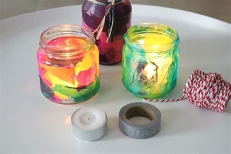 Teelichthalter Basteln Glas by Windlichter Basteln Und Auf Gute Gedanken Kommen