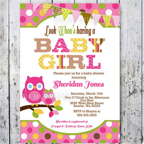owl themed baby shower invitation template owl baby shower invitations baby shower by bigdayinvitations
