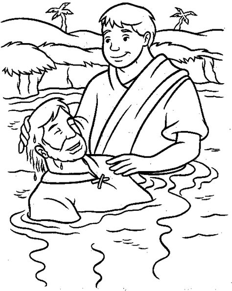 coloring page of jesus being baptized baptism of jesus coloring page moses holding the 10