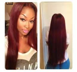 colored sew in hair burgundy hair color hair sew in make