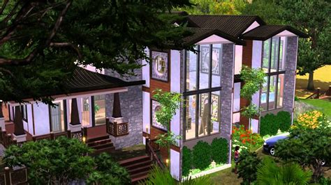 The Sims 3 House building   Asian dreams 67   YouTube
