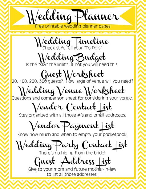 Free Printable Wedding Planner Pages Video Search Engine At Search Com Free Printable Wedding Planner Templates