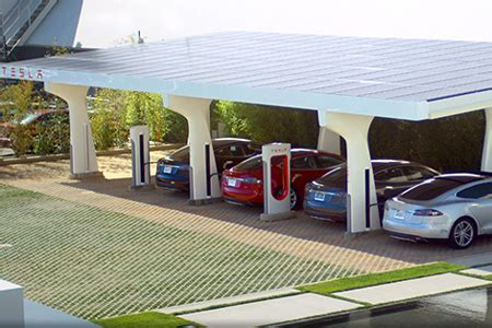 Tesla Solar Charging Station The Coolest Solar Powered Car Charging Station Designs