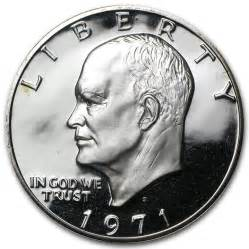 1971 s 40 silver eisenhower dollar gem proof eisenhower