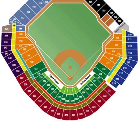 comerica park section map comerica park seating chart pictures to pin on pinterest