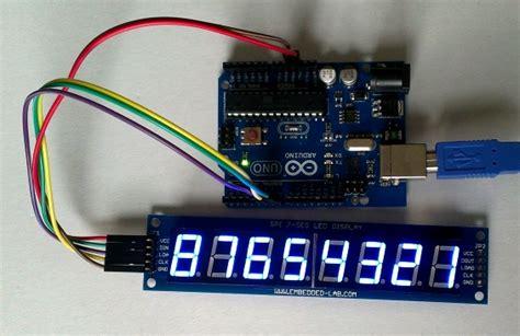8 Digit Led Display 7 Segments 74hc595 Color Merah serial 8 digit 7 segment led display blue from embedded