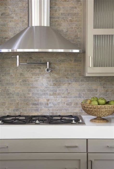 modern kitchen countertops and backsplash kitchens pot filler tumbled linear tiles