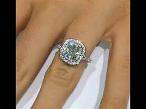 Cushion Cut Wedding Band 2 Ct Cushion Cut Diamond Engagement Ring In Double Halo
